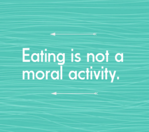 Eating is not a moral activity